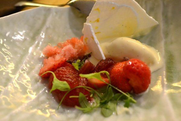 Restaurant Miles Bordeaux - Fraises Verveine Lait caillé