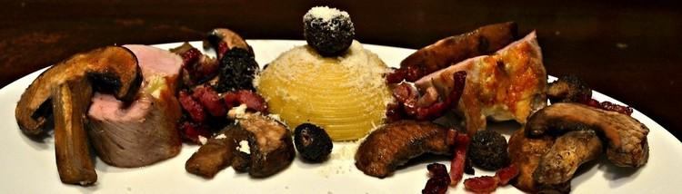 Dôme de Spaghettis, Champignons et filet mignon
