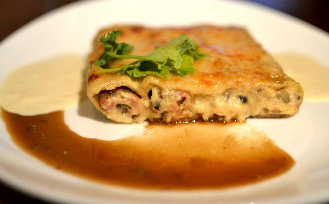 Cannelloni Farcis Foie gras artichaud Cèpes