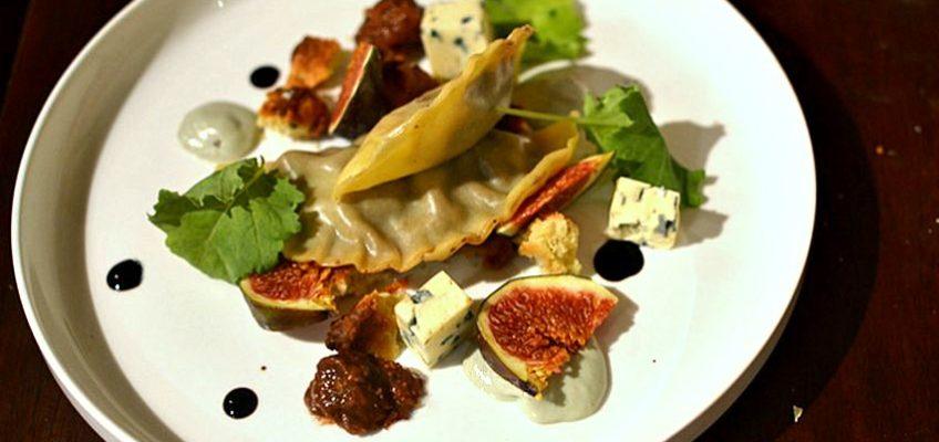Ravioles à la Fourme d'Ambert et aux Figues, Balsamique aux épices douces