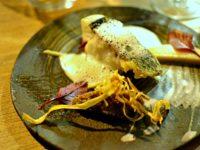Restaurant Miles Bordeaux - Bar Emulsion cardamome, salsifis, condiment olive noix parmesan