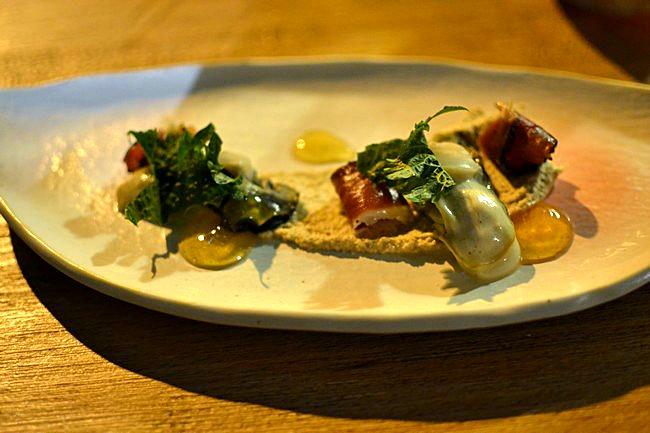 Restaurant Miles Bordeaux - Huitre Magret Noisette