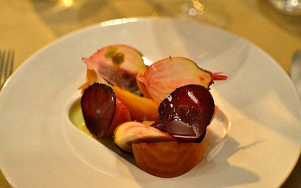 Restaurant Quinte Paris - Betteraves Huile d'Olive Citron