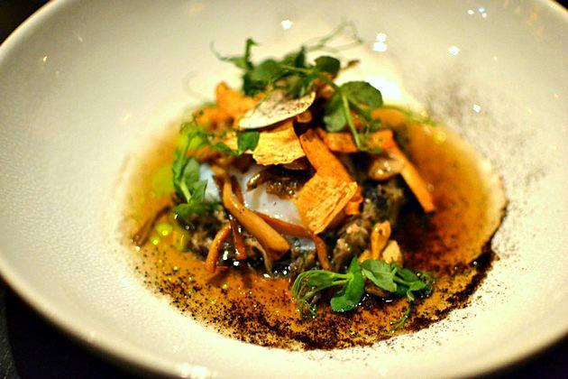 Rijks Restaurant Joris Amsterdam - Oeuf parfait, champignons, huile de poireau