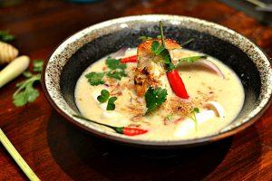 Tom Kha Kai Soupe Poulet lait de coco galganga