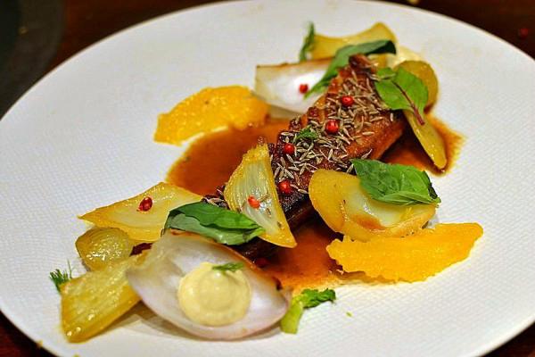 Canard à l'orange gastronomique au fenouil confit