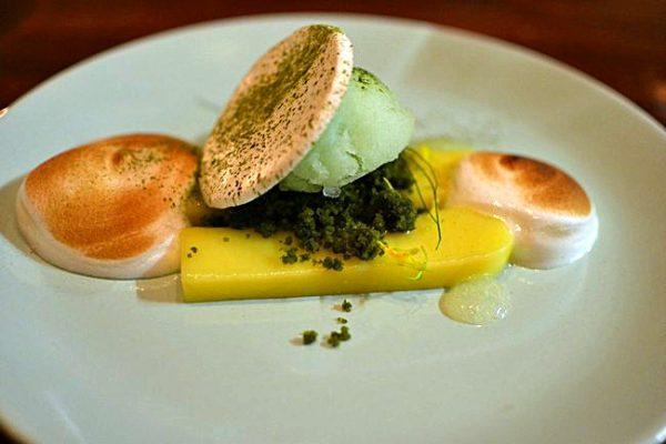 Crémeuc citron meringué thé vert - Restaurant Dan à Bordeaux