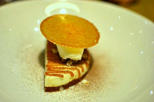 Tarte chocolat blanc caramel nougatine - Restaurant Pirouette, Paris
