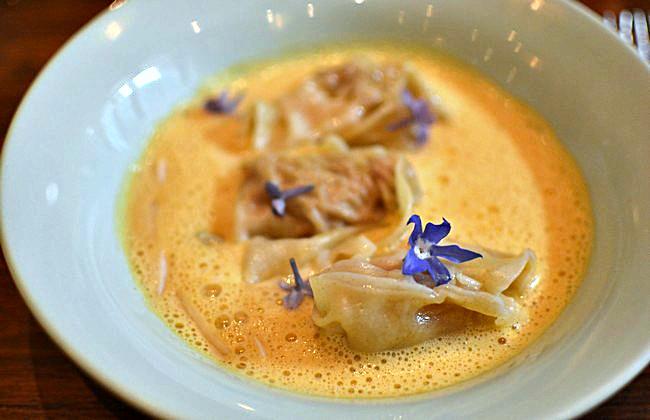 Wonton de crevettes parfumés au foie gras - Restaurant Dan à Bordeaux