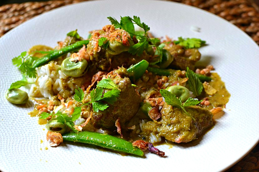 Curry vert d'agneau façon thaï à la menthe