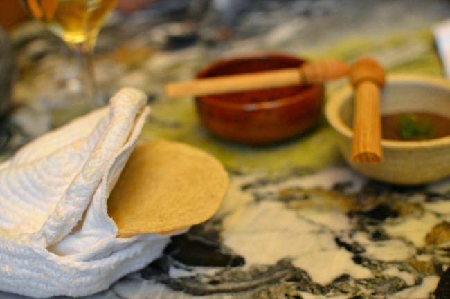 Restaurant Quintonil - Tortilla de Maïs bleu