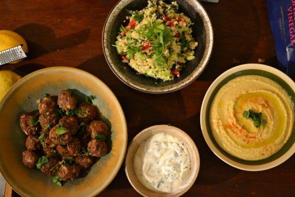 Kefta de boeuf libanaises à la menthe et au cumin