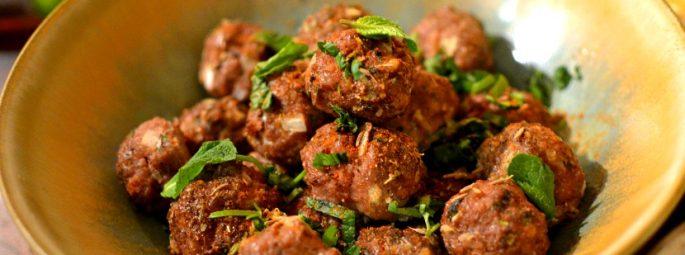 Kefta libanaises au boeuf à la menthe et au cumin (boulettes de viande)