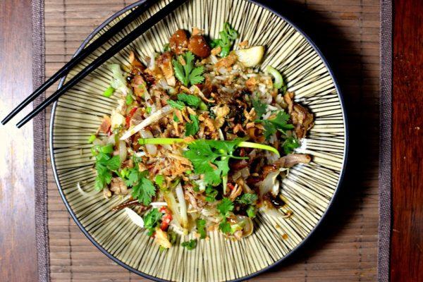 Porc mijoté à la citronnelle vietnamien et son riz sauté