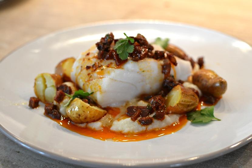 Dos de cabillaud au chorizo : gourmandise ibérique