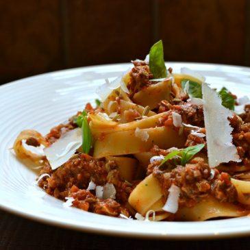 Pâtes à la bolognaise d'agneau ou Ragù d'agnello : la recette