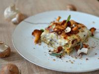 Lasagnes aux champignons végétariennes
