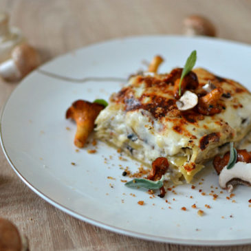 Lasagnes aux champignons et parmesan : lasagnes automnales et végétariennes (ou pas)
