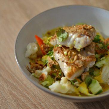 Filet de lieu noir au curry et au lait de coco : douce, épicée et gourmande à souhait