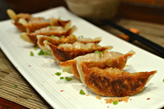 Raviolis chinois grilles au porc