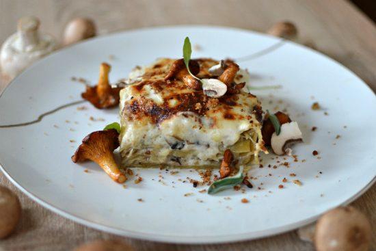 lasagnes champignons girolles vegetariennes