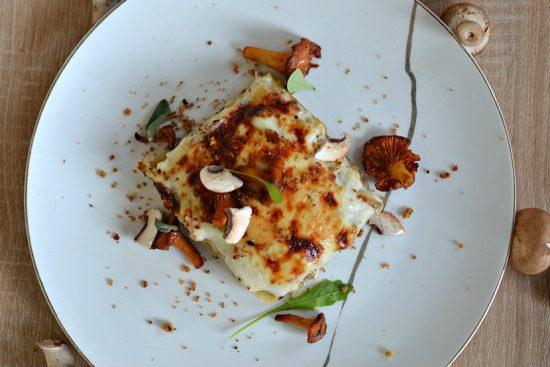 Les lasagnes aux champignons