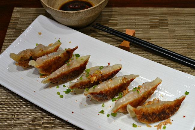 Raviolis chinois grillés au porc