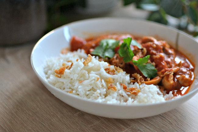poulet au curry tomates coco