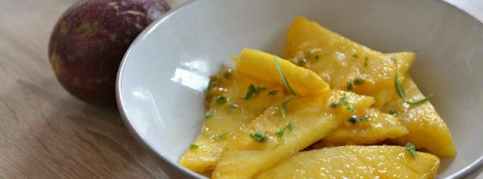 Salade d'ananas au fruit de la passion : salade fraîcheur aux notes exotiques
