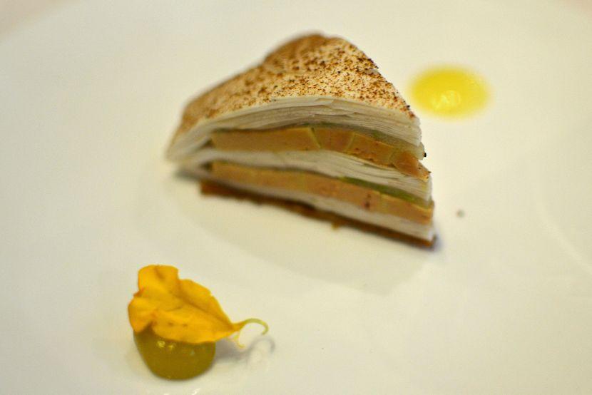 Millefeuille champignon foie gras Astrance