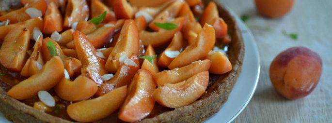 Tarte abricots amandes