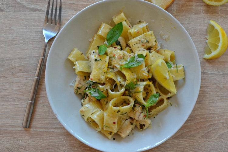 recette pates poulet citron basilic