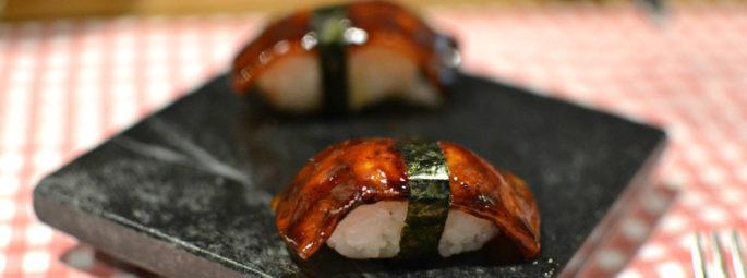 Sushi de porc caramélisé A Casa do Porco Brésil Sao Paulo