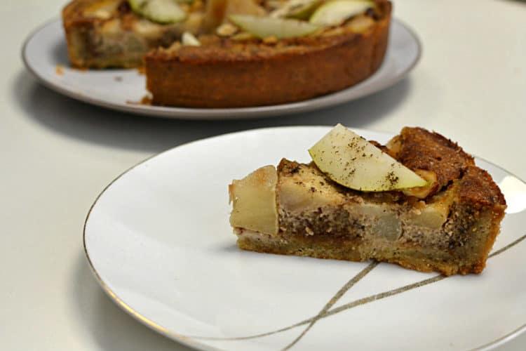 tarte aux poires et noisettes