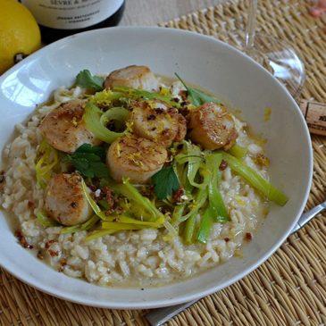 Risotto de Saint-Jacques aux poireaux : la recette façon grand chef