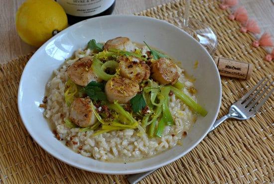 Risotto saint jacques poireaux recette facile