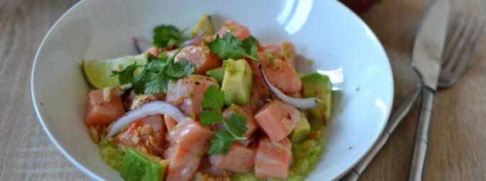 Ceviche Saumon Avocat recette