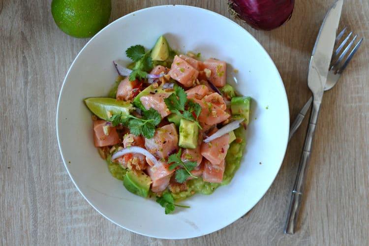 Ceviche saumon avocat citron vert recette facile