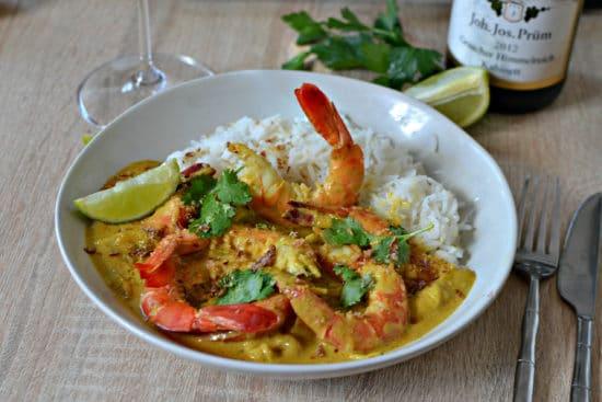 Crevettes au curry recette facile