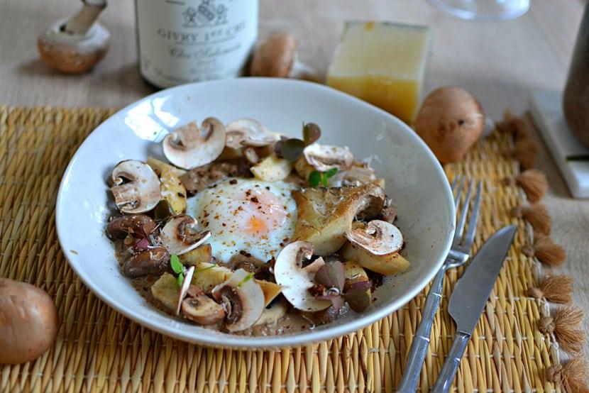 Oeuf parfait aux champignons recette