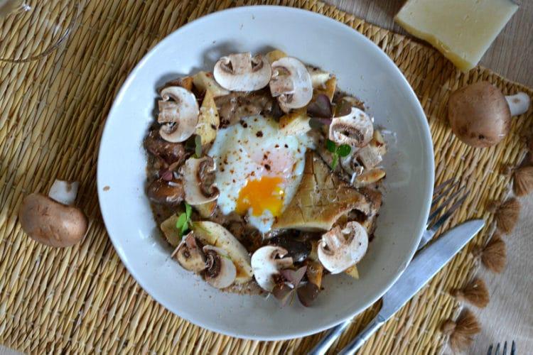 Oeufs parfaits champignons cepes recette chef