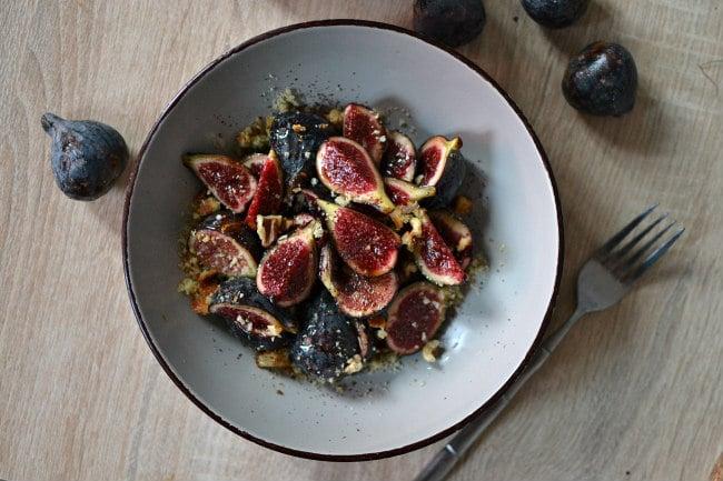 Salade figue au miel et fleur d'oranger recette facile dessert