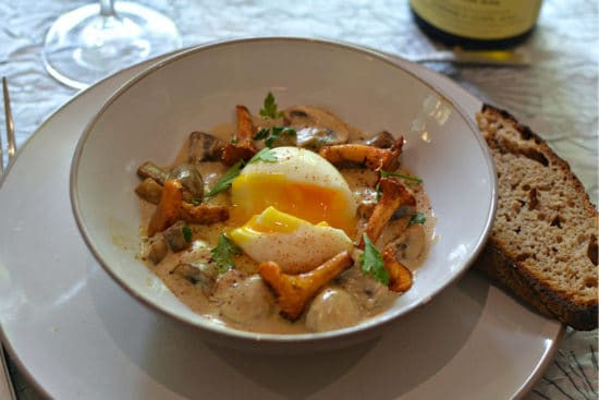 Oeuf mollet girolles recette