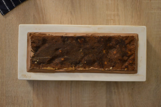 bûche noel cacahuète chocolat caramel