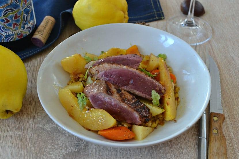 Magret de canard aux coings