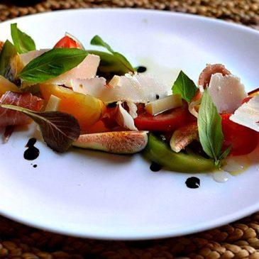 Salade de Figues au Balsamique Parmesan et Jambon de Parme