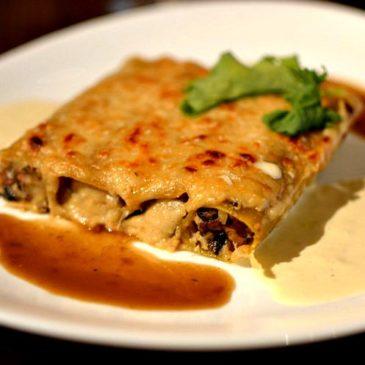 Cannellonis farcis aux Artichauts, Cèpes et Foie gras, gratinés au vieux parmesan