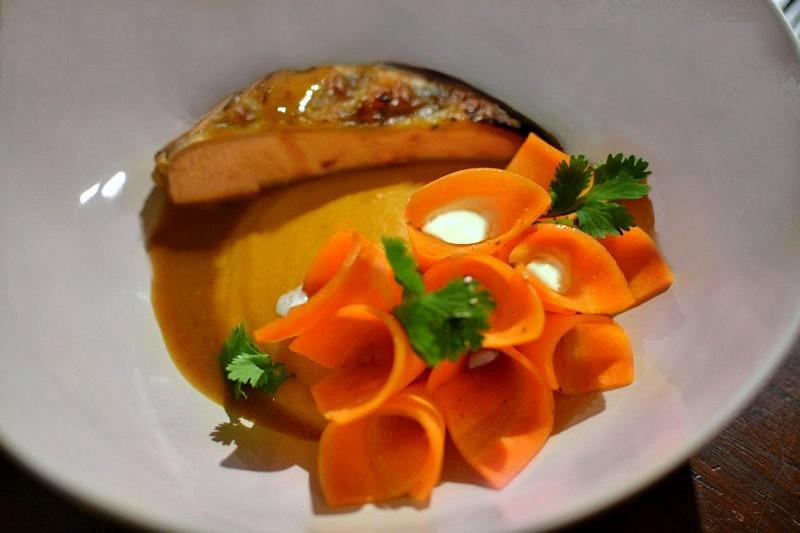 Pintade à l'Orange, potimarron, carottes