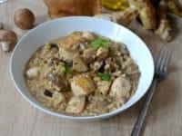 Risotto cepes et poulet grille recette