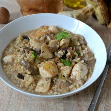 Risotto aux cèpes et poulet : la recette facile et faite maison